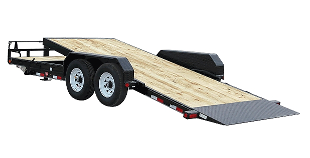 20 FT TILT DECK CAR HAULER  BALL HITCH
