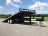 25 TON 25 FT TITLE DECK PINTLE HITCH TRAILER AIR BRAKE
